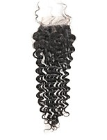 cheap -Remy Brazilian Natural Color Hair Weaves Deep Wave Hair Extensions 1pc Black