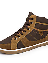 cheap -Men's Shoes PU Spring Fall Comfort Sneakers Applique For Casual Outdoor Brown Yellow Black