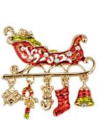 Men's Women's Brooches Rhinestone Simple Lovely Imitation Diamond Alloy Irregular Jewelry For Christmas