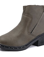 cheap -Women's Shoes Rubber Winter Fashion Boots Boots Round Toe For Outdoor Green Black