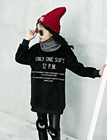 Girls' Solid Down & Cotton Padded,Cotton Long Sleeves Black Gray