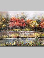 Hand-Painted Landscape HorizontalRustic Modern One Panel Canvas Oil Painting For Home Decoration