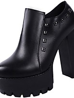 cheap -Women's Shoes Rubber Winter Comfort Boots Round Toe For Outdoor Black