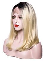 Недорогие -EEWigs жен. Парики из искусственных волос Лента спереди Короткий Прямой силуэт Черный и золотой Волосы с окрашиванием омбре Стрижка боб С