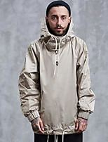 cheap -Men's Going out Hoodie Solid Cotton Polyester