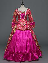 Vittoriano Rococò Donna Per adulto Vestito da Serata Elegante Stile Carnevale di Venezia Fucsia Cosplay Satin elasticizzato Manica lunga