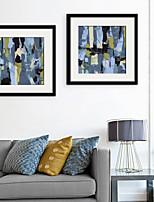 Formas Abstracto Ilustraciones Arte de la pared,PVC Material con Marco For Decoración hogareña marco del art Sala de estar Cocina Comedor
