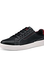 cheap -Men's Shoes PU Spring Fall Comfort Sneakers For Casual Blue Black White