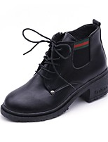 cheap -Women's Shoes PU Fall Winter Comfort Fashion Boots Boots Round Toe For Casual Khaki Black