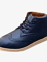 cheap -Men's Shoes PU Winter Comfort Sneakers For Casual Blue Brown Black