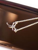 Жен. Ожерелья-бархатки Ожерелья с подвесками В форме банта Винтаж Elegant Бижутерия Назначение Офис