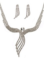 Femme Boucles d'oreille gitane Collier Bijoux Fantaisie Mariage Soirée Imitation Diamant Alliage Forme Géométrique 1 Collier Boucles