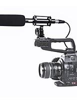 boya por pvm1000 by-pvm1000 condensador video de escopeta / micrófono de entrevista para canon nikon sony dslr camra con parabrisas libre