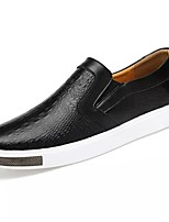 Men's Shoes PU Spring Fall Comfort Loafers & Slip-Ons For Casual Blue Black White
