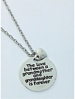 Women's Pendant Necklaces Circle Heart Alloy Love Jewelry For Gift Daily