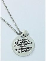 le collane del pendente delle donne cerchio i monili di amore della lega del cuore per il regalo ogni giorno