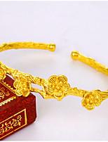 economico -Per donna Braccialetti Bracciali a polsino Florale Asiatico Regalo Adorabile Di tendenza Placcato in oro Gioielli Per Matrimonio