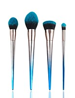 4 pcs Makeup Brush Set Pony Synthetic Hair Professional Soft Resin Blush