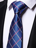 cheap -Men's Polyester Necktie,Work Casual Floral All Seasons Blue