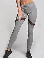 cheap -Women's Patchwork Polyester Medium Stitching Legging,Patchwork Gray Black