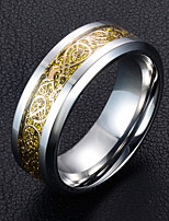 Men's Band Rings , Metallic Fashion Titanium Steel Circle Jewelry For Wedding Daily