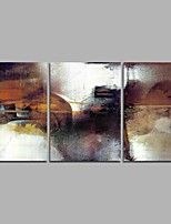 cheap -Hand-Painted Abstract Horizontal Panoramic,Simple Modern Three Panels Canvas Oil Painting For Home Decoration