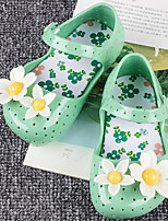 cheap -Girls' Shoes PVC Leather Summer Fall Comfort Jelly Shoes Sandals For Casual Almond Blue Green Red