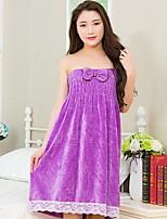 Robe de chambre Pyjamas Femme,Fleurs Coton Polyester Violet Fuchsia