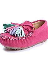 cheap -Girls' Shoes Leatherette Spring Fall Comfort Flats Tassel For Casual Outdoor Pink Fuchsia Dark Blue