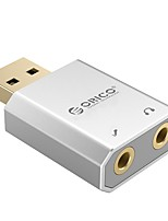 ORICO SK02 External USB Sound Card Stereo Mic Speaker Headset Audio Jack 3.5mm Mini Cable Adapter Free Drive For PC Laptop
