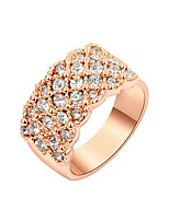 Women's Cubic Zirconia Statement Jewelry Gold Plated Circle Jewelry For Party Casual