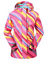 Phibee Women's Ski Jacket Warm Waterproof Windproof Wearable Breathability Anti-static Ski / Snowboard Polyester