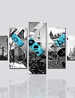 Tela de impressão Modern,5 Painéis Tela Estampado Decoração de Parede For Decoração para casa