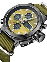 cheap -Men's Casual Watch Fashion Watch Wrist watch Japanese Quartz Calendar / date / day Casual Watch Nylon Band Casual Elegant Green