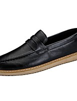 Men's Shoes PU Fall Winter Moccasin Comfort Light Soles Loafers & Slip-Ons For Casual Black