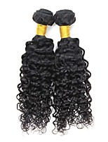 cheap -Remy Peruvian Natural Color Hair Weaves Romantic Deep Wave Hair Extensions 2pcs Black