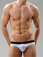 Men's Solid Briefs  Underwear,Cotton Spandex