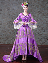 cheap -Vintage Rococo Victorian Costume Women's Adults' One Piece Dress Party Costume Masquerade Purple Vintage Cosplay Satin/ Tulle Tulle Long