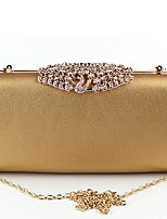 Women Bags Polyester Evening Bag Buttons for Wedding Event/Party All Season Gold