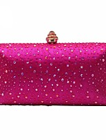 Women Bags Polyester Evening Bag Crystal Detailing for Wedding Event/Party All Season Black Blushing Pink Dark Blue Yellow Fuchsia