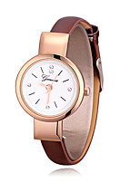 cheap -Women's Fashion Watch Quartz Leather Band Casual Minimalist Black White Brown