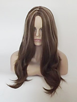 cheap -Women Synthetic Wig Capless Medium Length Long Natural Wave Flaxen Highlighted/Balayage Hair Middle Part Party Wig Natural Wigs Costume
