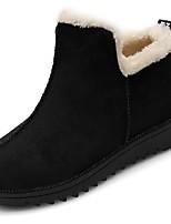abordables -Mujer Zapatos PU Invierno Otoño Suelas con luz Botas Tacón Plano Dedo redondo Mitad de Gemelo Para Casual Negro Verde