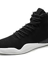 Недорогие -Муж. обувь Искусственное волокно Зима Удобная обувь Кеды для Повседневные Черный Серый