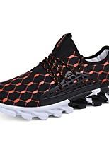 Недорогие -Муж. обувь Искусственное волокно Весна Осень Оригинальная обувь Кеды для Повседневные Черный Черно-белый Оранжевый и черный