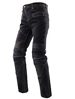 abordables -los vaqueros de la motocicleta de los hombres estiran el engranaje a prueba de golpes de los jeans de la protección