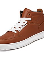 cheap -Men's Shoes PU Spring Fall Comfort Sneakers For Casual Brown Black White