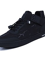 cheap -Men's Shoes PU Spring Fall Light Soles Sneakers for Casual Black Black/Red