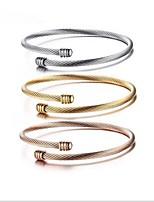Femme Manchettes Bracelets Basique Alliage Forme de Cercle Bijoux Pour Quotidien Rendez-vous