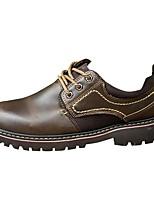 Для мужчин обувь Полиуретан Весна Осень Удобная обувь Туфли на шнуровке Назначение Повседневные Черный Коричневый